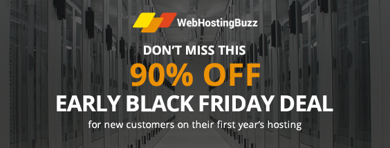 WebHostingBuzz 90% Off Black Friday Sale